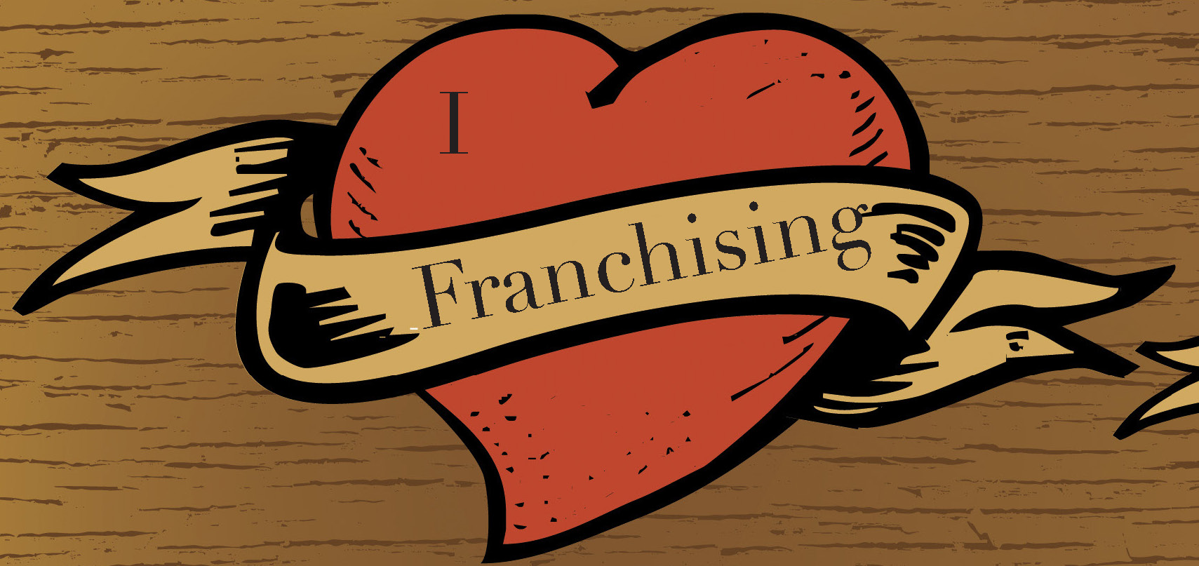 I love franchise business model image